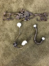 Collection of brass hooks