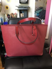 women's red leather tote bag Toronto, M1N 3S9