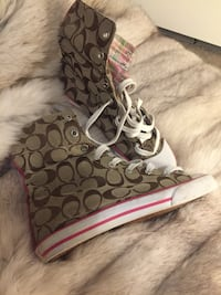 Coach high tops great condition.