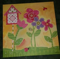 pink and green floral painting Forsyth, 65653