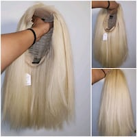 18 inch human hair NEW blonde wig Longueuil