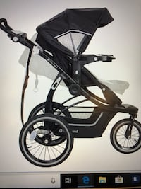 black and gray jogging stroller 10/10 condition I paid 620.00 after tax for the stroller I only used it a few times . Toronto, M3K 1W3
