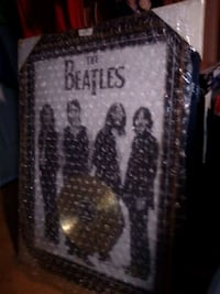 Vintage Beatles poster I'm record built-in metal a golden record