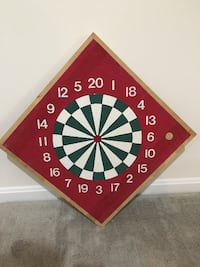 """Butcher Block"" 2-Sided Dartboard with Inlays Bowie"