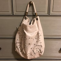 White leather studded shoulder bag Gaithersburg, 20878