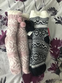 two pairs of assorted-color knitted socks Hamilton, L8K