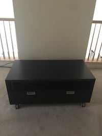 black and white wooden TV stand Rockville, 20850