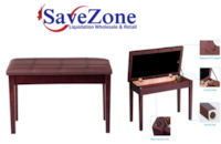 New- Solid Wood PU Leather Piano Bench Padded Double Duet Keyboard Sea Mississauga