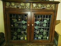 brown wooden framed glass panel door 828 mi