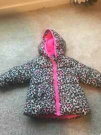 black and white leopard print zip-up hoodie Mount Holly, 28120