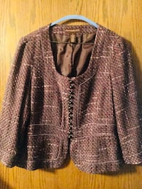 BANDOLINO jacket/blazer w/ brass ball buttons sz-12