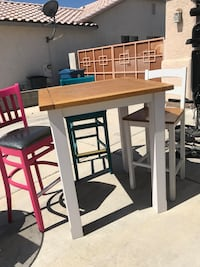 High top table and 3 chairs