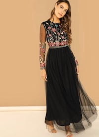 Embroidered maxi dress Calgary, T3N 0H2