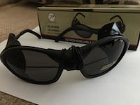Reduced for a quick sale: New Tactical style black sunglasses w/wind guard