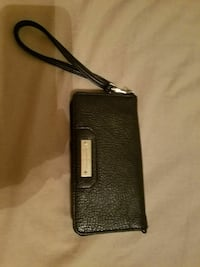 women's black leather wristlet New Castle, 19720