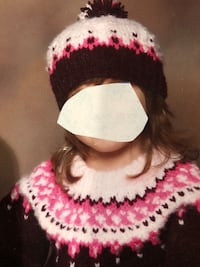 Girls Homemade sweater and hat