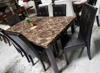 Brand New 7 Piece Faux Marble Dining Set  Silver Spring, 20910