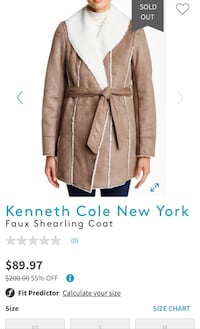NEW Kenneth Cole New York – Faux Shearling Coat Falls Church, 22041