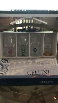 Set Of Handcrafted Italian Glassware Set Of 4 Cordials Crafted  in Italy Farmington Hills, 48336