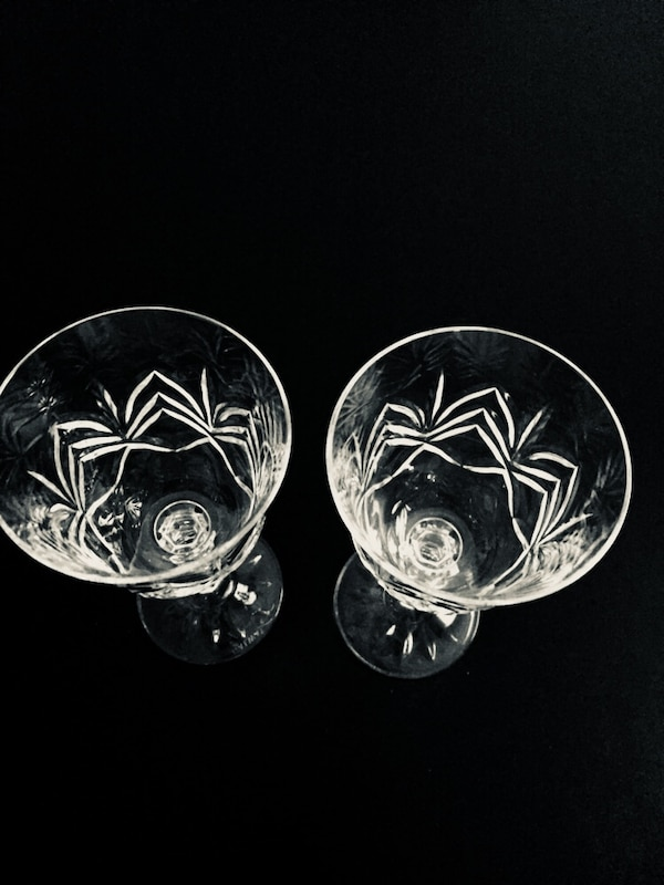 """7""""h Pair of Galway Crystal Wine Glasses -$38/pair d3694c6d-1b80-4f09-89e6-9e0333669bb5"""