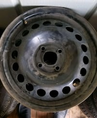 gray bullet hole vehicle wheel and tire 3143 km