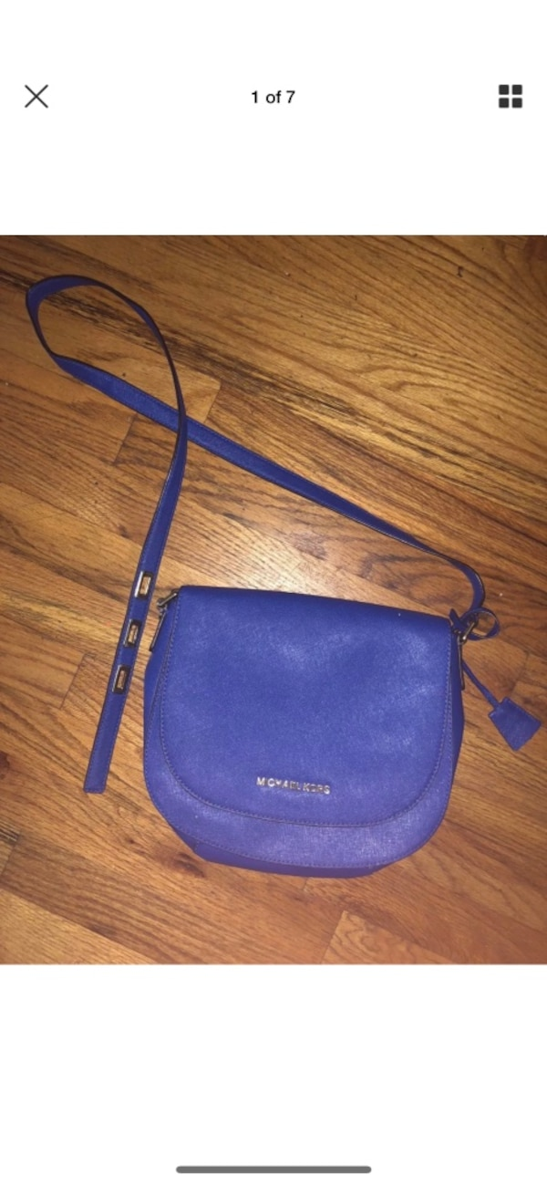 115da0f70a0b Used Blue leather michael kors crossbody bag for sale in New York ...