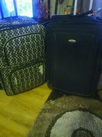 two black and green luggage bags 10 each Toronto, M9W