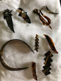 Vintage mid century hair clips and hair band.     Toronto, M9C 2G9
