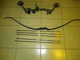 Compound bow and recurve bow