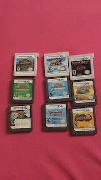 Nine nintendo ds game cartridges Barrie, L4M 2Y7