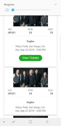 Tickets-Eagles, Zac Brown Band and Doobie Brothers Ventura, 93003