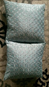 Teal and silver throw pillows Toronto, M6K 0A4