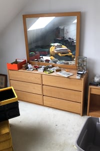 Dresser and mirror set  Newton, 02465