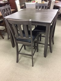 rectangular brown wooden table with four chairs dining set Houston, 77077