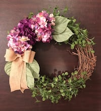 pink and white flower accent wreath New York, 10012