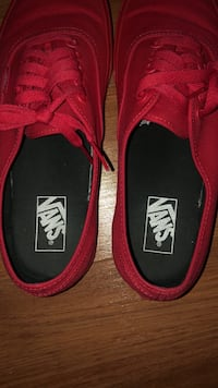 Vans all red
