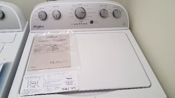 5 months old -Whirlpool 7.0-CU FT Dryer & 3.5-CU FT Washer with 3 yr Protection Plan