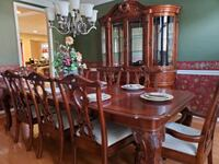 Beautiful cherry wood dining table and China cabinet  West Springfield, 22152