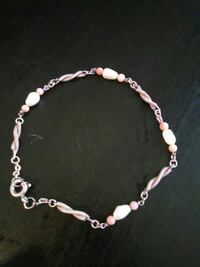 Real pearls in a bracelet with possible silver  Mississauga, L5C 1N8
