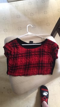 red and black plaid scoop-neck shirt Orchard Park, 14127