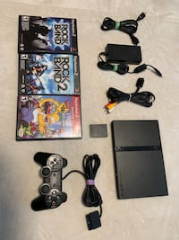 PlayStation 2 slim console + 3 games 1 memory card 1 controller  Markham, L3S 3C3