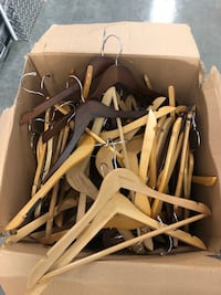 Wooden hangers $1 a piece  Pants hangers and shirt hangers 46 km
