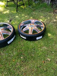 32s rims and tires some curb rash all tires are good 305/25/32s
