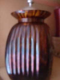 Large vase with beautiful Lid. Brown topaz  Huntington
