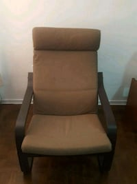 brown wooden framed brown padded armchair Toronto, M6B 2C8