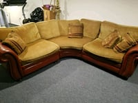brown and black fabric sectional sofa Florham Park, 07932