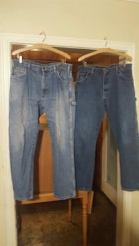 5 pair of work jeans