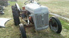 grey and black tractor