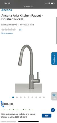 Ancona Aria Kitchen Pull Down Faucet brand new