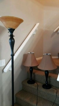 two black-and-brown table lamps Calgary, T3K 6J8